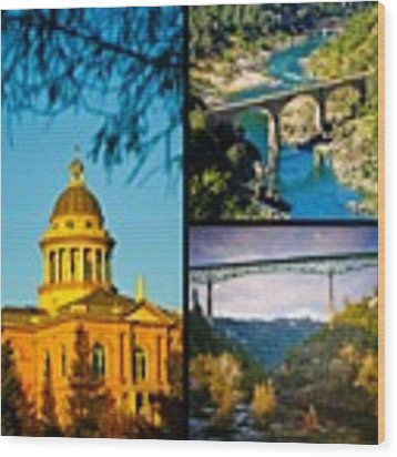Auburn California Triptych 2 Wood Print by Sherri Meyer