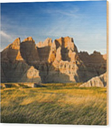 Badlands In Late Afternoon Wood Print by Rikk Flohr