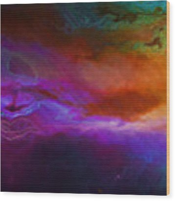 Becoming - Abstract Art - Triptych 1 Of 3 Wood Print by Jaison Cianelli