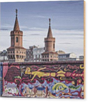 Berlin Wall Wood Print by Juergen Held