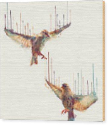 Birds // Awake Wood Print by Amy Hamilton