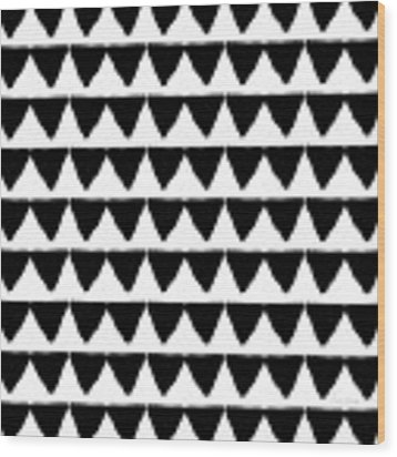 Black And White Triangles- Art By Linda Woods Wood Print by Linda Woods
