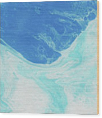Blue Abyss Wood Print by Nikki Marie Smith