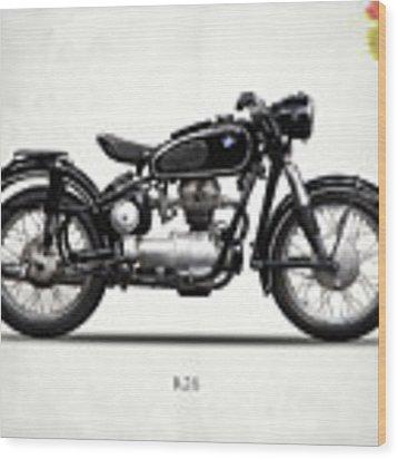 The R26 Motorcycle Wood Print by Mark Rogan