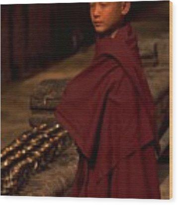Boy Buddhist In Bodh Gaya Wood Print by Travel Pics