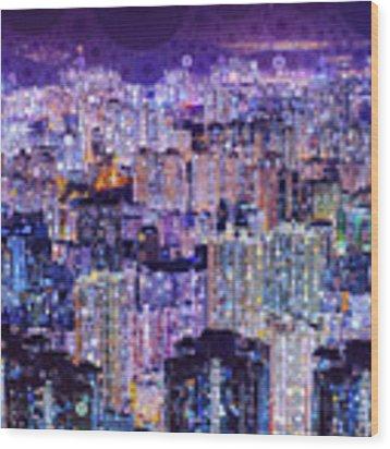 Bright Lights, Big City Wood Print by Susan Maxwell Schmidt