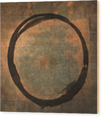 Brown Enso Wood Print