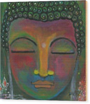 Buddha Painting Wood Print by Prerna Poojara