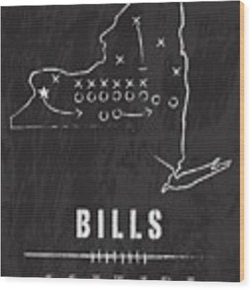 Buffalo Bills / Nfl Football Art / Orchard Park New York Wood Print by Damon Gray