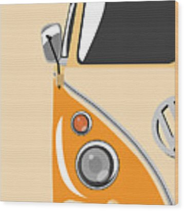 Camper Orange Wood Print
