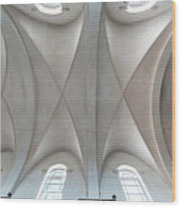 Catedral De La Purisima Concepcion Ceiling Wood Print by Lou Novick