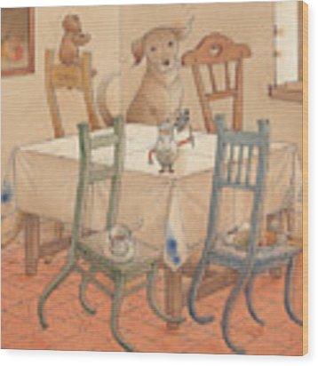 Chair Race Wood Print
