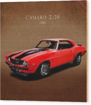 Chevrolet Camaro Z 28 Wood Print