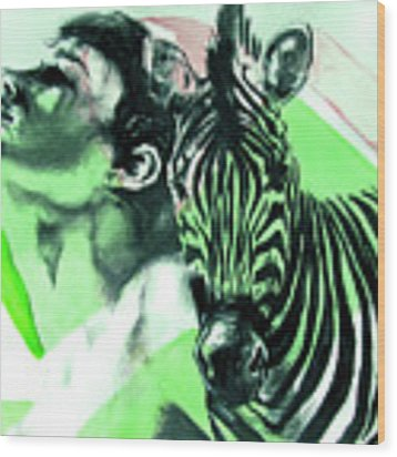 Chronickles Of Zebra Boy   Wood Print by Rene Capone
