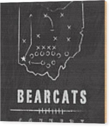 Cincinnati Bearcats / Ncaa College Football Art / Ohio Wood Print by Damon Gray