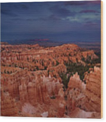 Clearing Storm Over The Hoodoos Bryce Canyon National Park Wood Print by Dave Welling