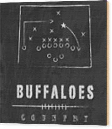 Colorado Buffaloes / Ncaa College Football Art / Boulder Wood Print by Damon Gray