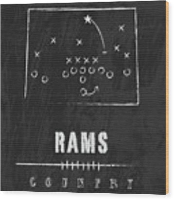 Colorado State Rams / Ncaa College Football Art / Fort Collins Wood Print by Damon Gray