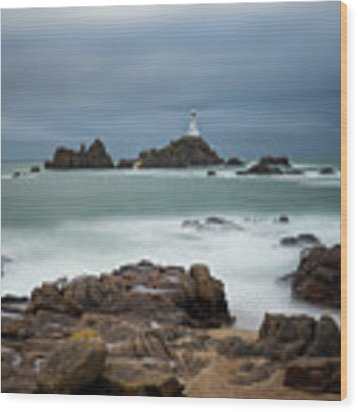Corbiere Lighthouse Wood Print by James Billings