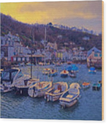 Cornish Fishing Village Wood Print by Paul Gulliver