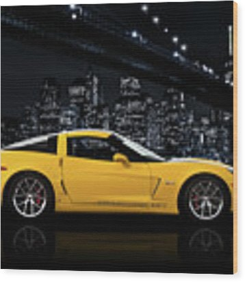 Corvette Z06 Gt1 Wood Print