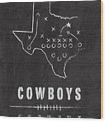 Dallas Cowboys Art - Nfl Football Wall Print Wood Print by Damon Gray