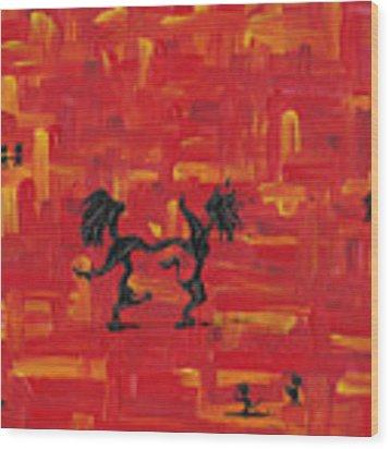 Dance Art Creation 3d9 Wood Print by Manuel Sueess