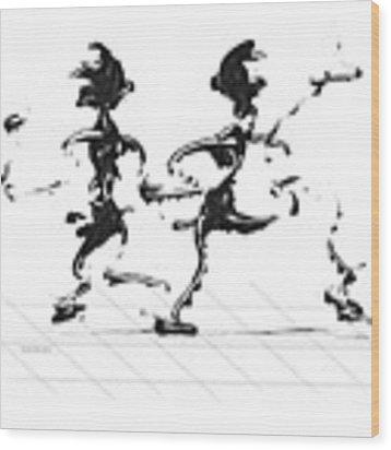 Dancing Couple 3 Wood Print by Manuel Sueess