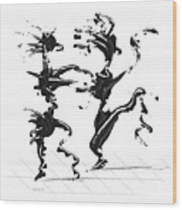 Dancing Couple 4 Wood Print by Manuel Sueess