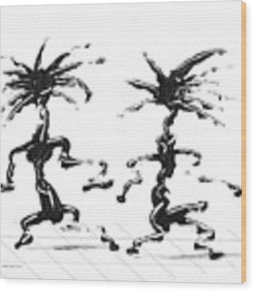 Dancing Couple 5 Wood Print by Manuel Sueess