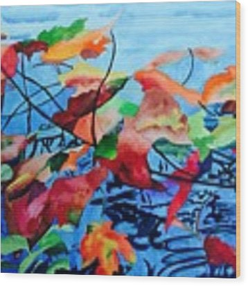 Dancing Over Water Wood Print by Patti Ferron