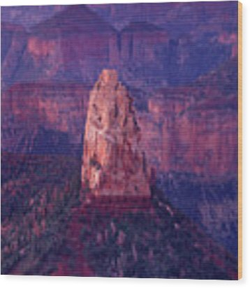 Dawn Mount Hayden Point Imperial North Rim Grand Canyon National Park Arizona Wood Print by Dave Welling