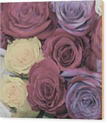 Decorative Wallart Brilliant Roses Photo C41217 Wood Print by Mas Art Studio