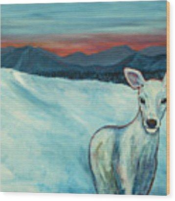 Deer Jud Wood Print by Angelique Bowman