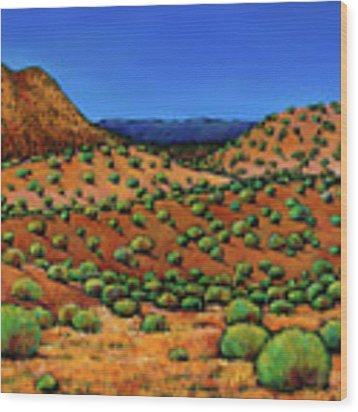Desert Afternoon Wood Print