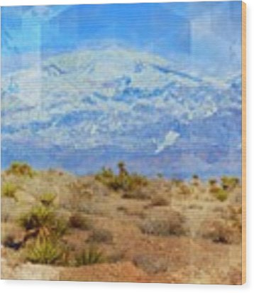 Desert Contrasts Wood Print by Michelle Dallocchio