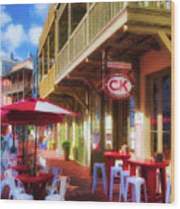 Downtown Rosemary Beach Florida # 2 Wood Print by Mel Steinhauer