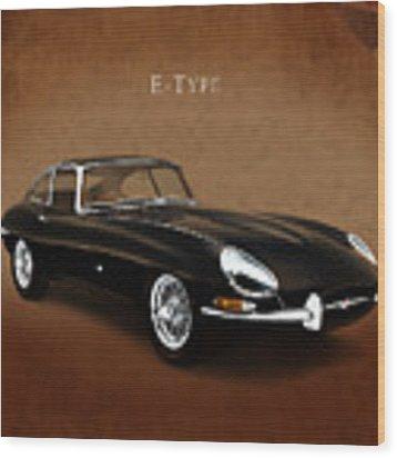 E Type Jaguar Wood Print