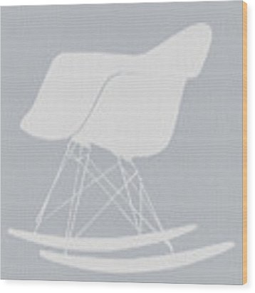 Eames Rocking Chair Wood Print by Naxart Studio