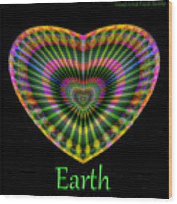 Earth Wood Print by Visual Artist Frank Bonilla