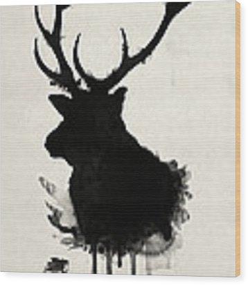 Elk Wood Print by Nicklas Gustafsson