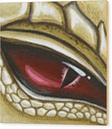 Eye Of Gold Dust Wood Print