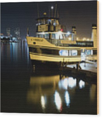 Ferry To Broadway Pier Wood Print by Nathan Rupert