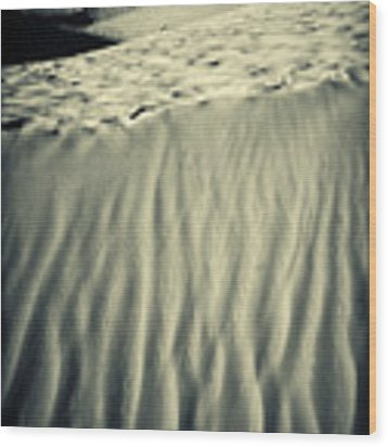 Fiery Desert Sand II Wood Print by Silvia Ganora