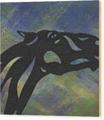 Fred - Abstract Horse Wood Print by Manuel Sueess