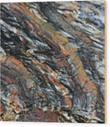 Geologica II Wood Print by Julian Perry