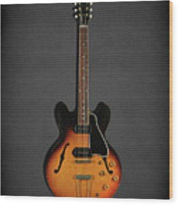 Gibson Es-330 Wood Print by Mark Rogan