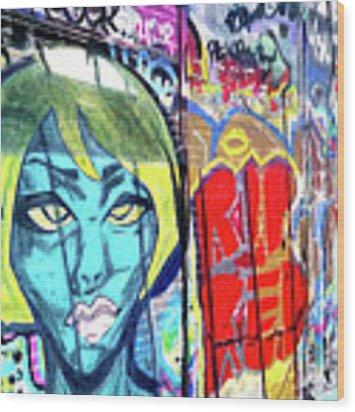 Graffiti Alley, Boston, Ma Wood Print by Patti Ferron