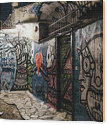 Graffiti In Plaka I Wood Print by James Billings