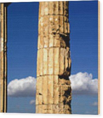 Hera Temple - Selinunte - Sicily Wood Print by Silvia Ganora